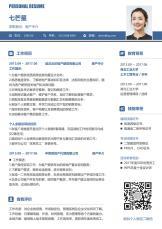 地产建筑行业商务风简历.docx