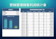 营销管理销售利润统计表.xlsx