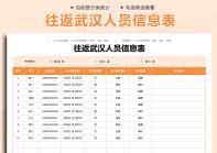 往返武汉人员信息统计表.xlsx