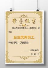 企业烫金优秀员工荣誉证书.docx