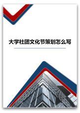 大学社团文化节策划怎么写.docx