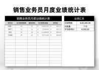 销售业务员月度业绩统计表.xlsx