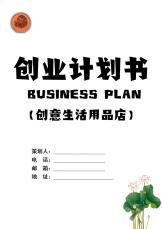创意生活用品店创业计划书.docx