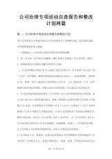 公司治理专项活动自查报告和整改.doc