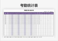 考勤统计表(自动计算).xls