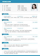 财务专员单页简历.docx