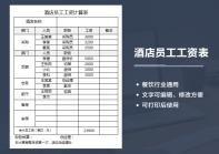 酒店餐饮员工工资计算表.xlsx