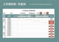 工作规划表-管理进度表.xls