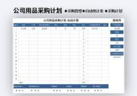 公司用品采购计划-自动计算.xlsx
