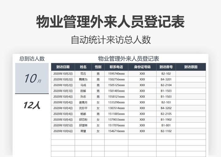 物业管理外来人员登记表.xlsx
