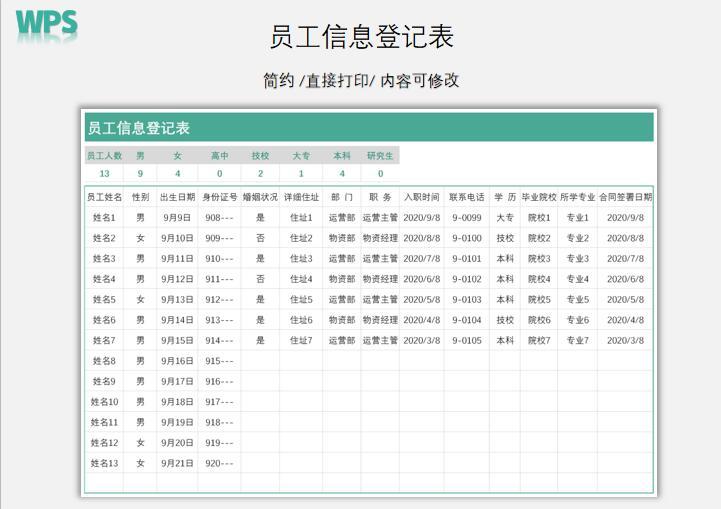 员工信息登记表.xlsx