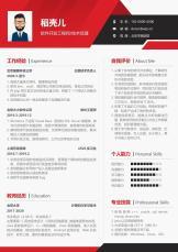 经典红黑3-5年软件开发工程师单页简历.docx