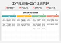 工作规划表-部门计划管理表.xlsx