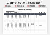 人事合同登记表(到期提醒).xlsx
