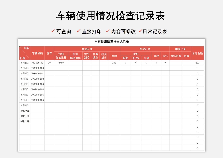 车辆使用情况检查记录表.xlsx